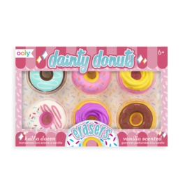 Ooly Dainty Donuts Scented Erasers, Set of 6
