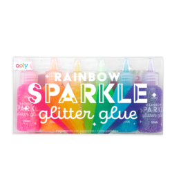 Ooly Rainbow Sparkle Glitter Glue, Set of 6