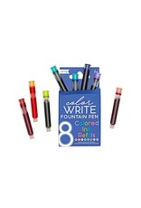Ooly Color Write Fountain Pen Colored Ink Refills, Set of 8