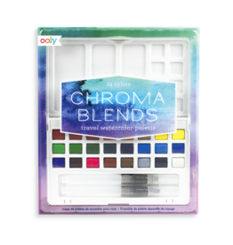 Ooly Chroma Blends Travel Watercolor Palette, 27 pcs