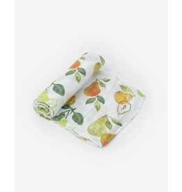 Little Unicorn, LLC Cotton Muslin Swaddle Single, Peary Nice