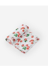 Little Unicorn, LLC Cotton Muslin Swaddle Single, Strawberry Patch