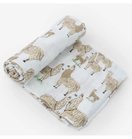 Little Unicorn, LLC Cotton Muslin Swaddle Single, Llama Llama