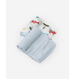 Little Unicorn, LLC Deluxe Muslin Swaddle 2 Pack, Air Show