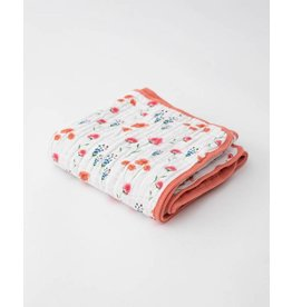 Little Unicorn, LLC Cotton Muslin Big Kid Quilt, Wild Mums