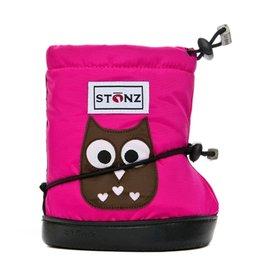 Stonz Stonz Booties, Owl Fuchsia, Fuchsia