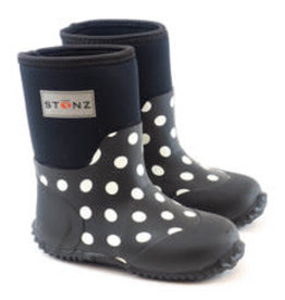 Stonz Stonz West Bootz, Polka Dot Black & White