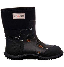 Stonz Stonz West Bootz, Galaxy Glow Print Black