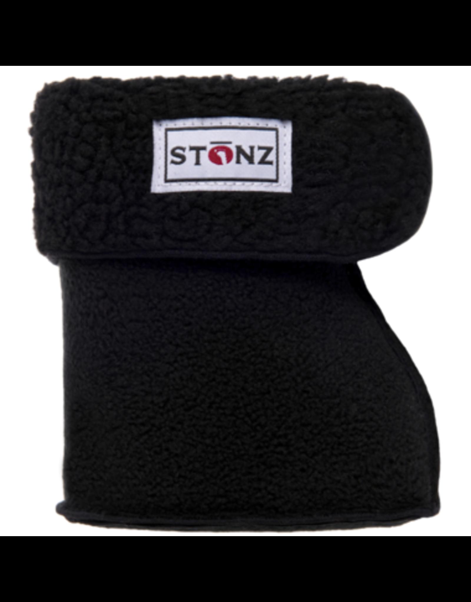 Stonz Stonz Bootie Linerz, Black Sherpa Bonded Fleece