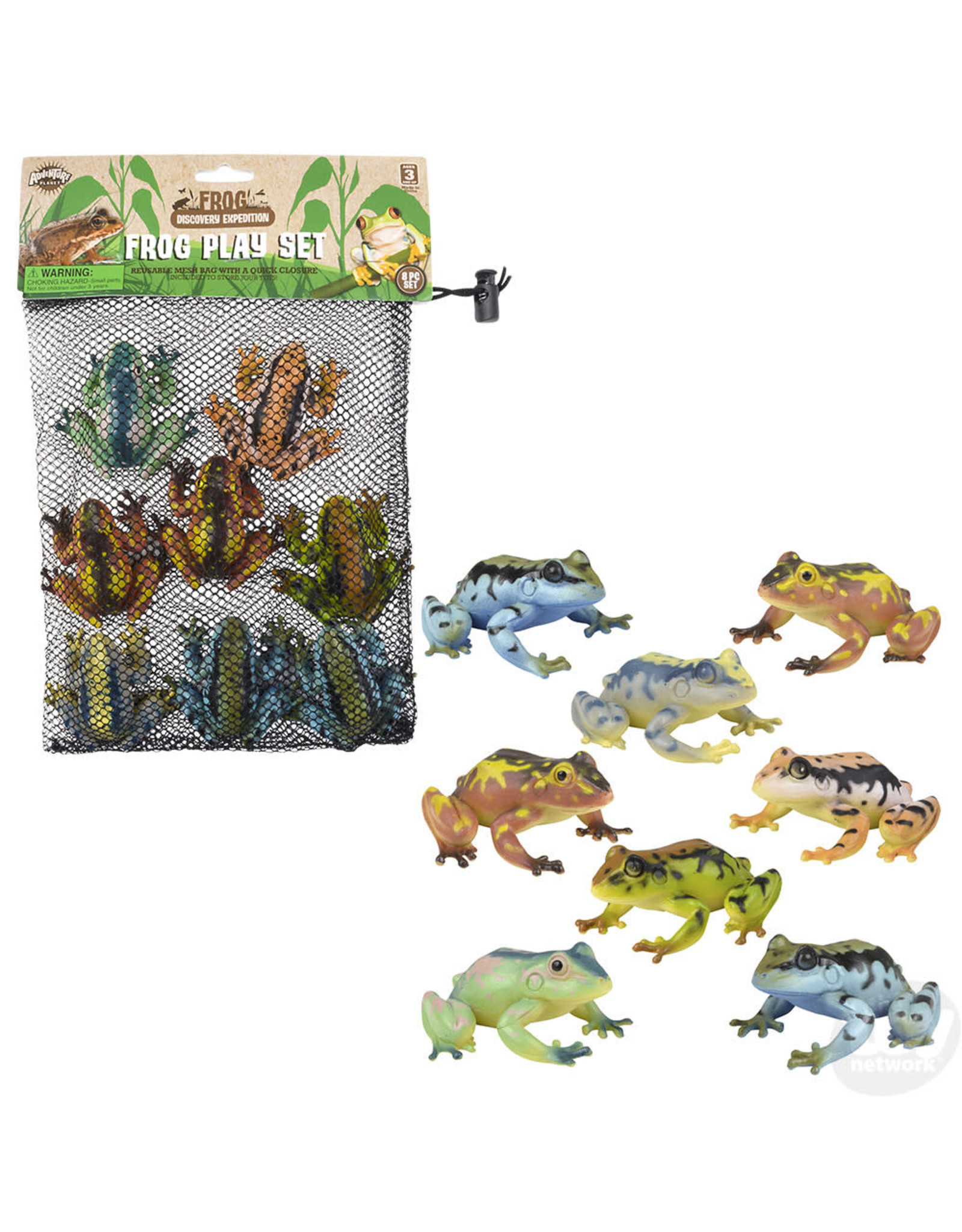 The Toy Network Mesh Bag Frogs