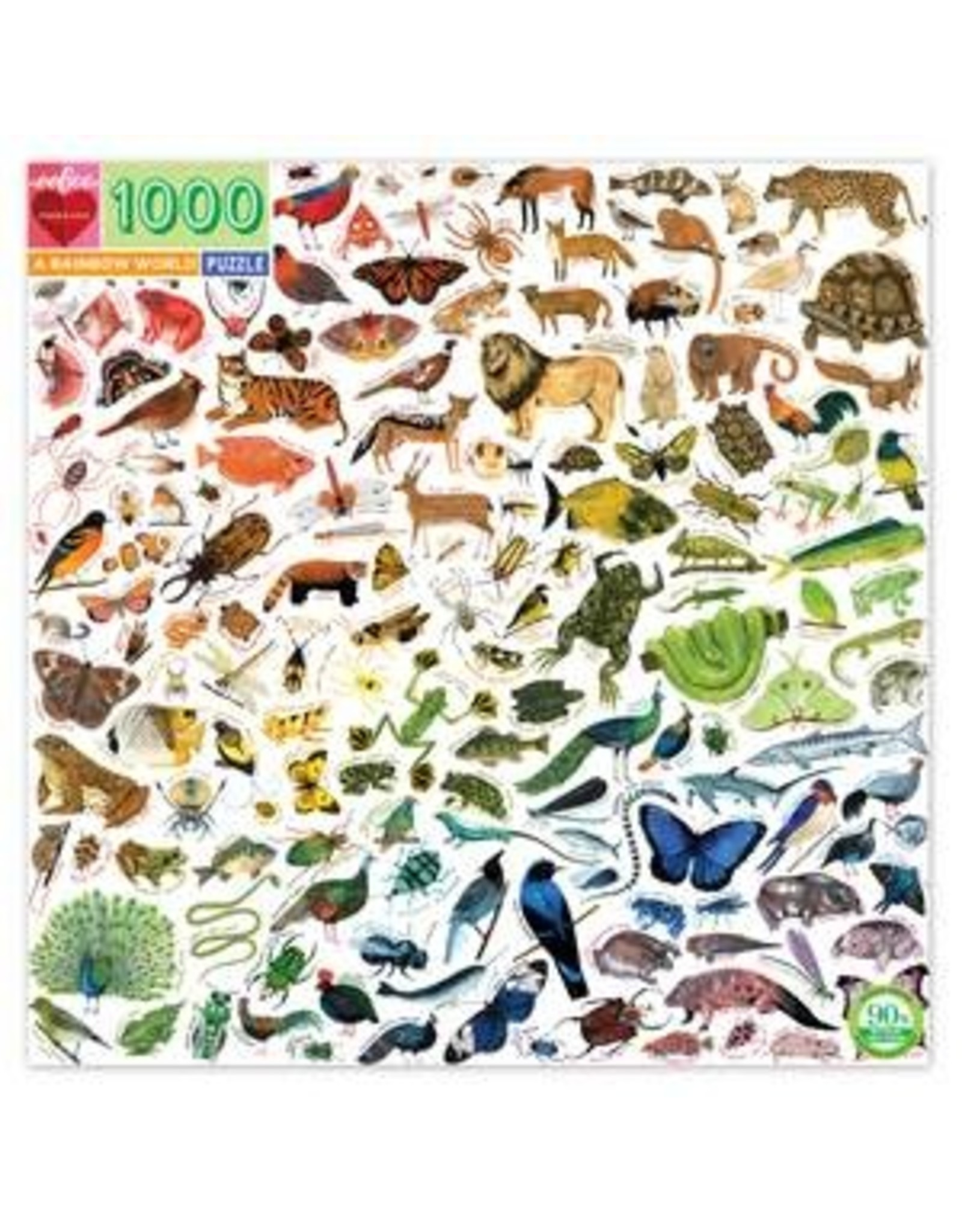 Eeboo 1000 pcs. A Rainbow World Puzzle