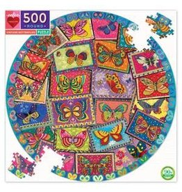 Eeboo 500 pcs. Vintage Butterflies Round Puzzle