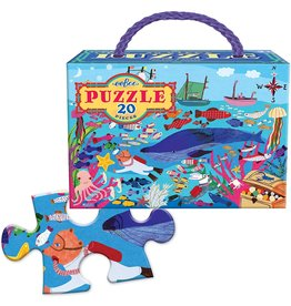 Eeboo 20 pcs. Sea Life Puzzle
