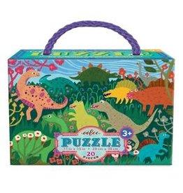 Eeboo 20 pcs. Dinosaur Meadow Puzzle