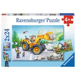 Ravensburger 2x24 pcs. Diggers At Work Puzzle