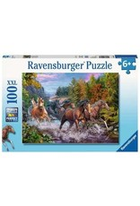 Ravensburger 100 piece Rushing River Horses Puzzle
