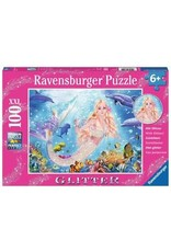 Ravensburger 100 Piece Mermaid and Dolphins XXL Puzzle