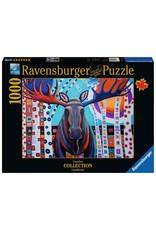 Ravensburger 1000 pcs. Winter Moose Puzzle