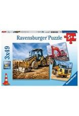 Ravensburger 3x49 Piece Diggers at Work Puzzle