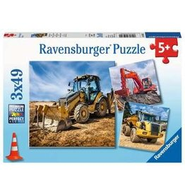Ravensburger 3x49 pcs. Diggers at Work Puzzle