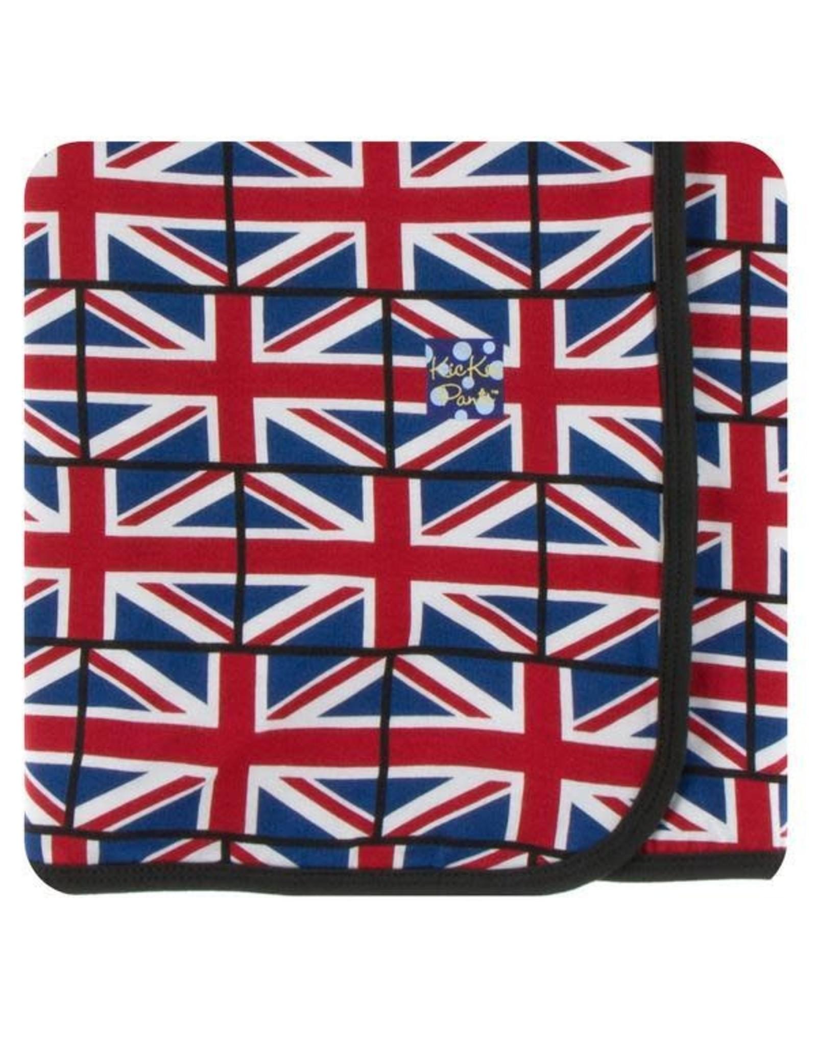 KicKee Pants Kickee Pants Swaddling Blanket, Union Jack