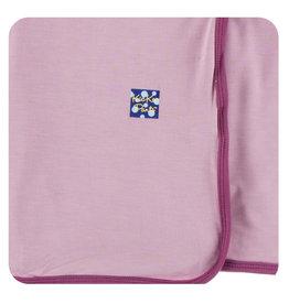 KicKee Pants Kickee Pants Swaddling Blanket, Sweet Pea with Amethyst