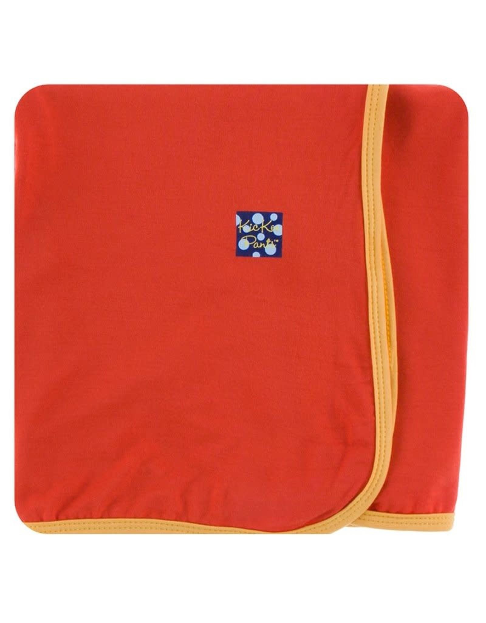 KicKee Pants Kickee Pants Swaddling Blanket, Poppy with Marigold