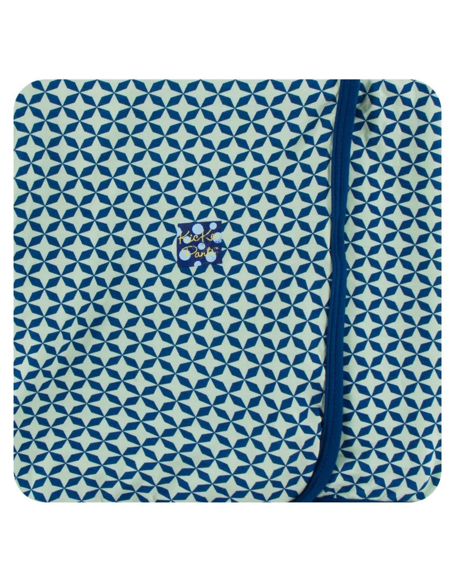 KicKee Pants Kickee Pants Swaddling Blanket, Pistachio Taj Mahal