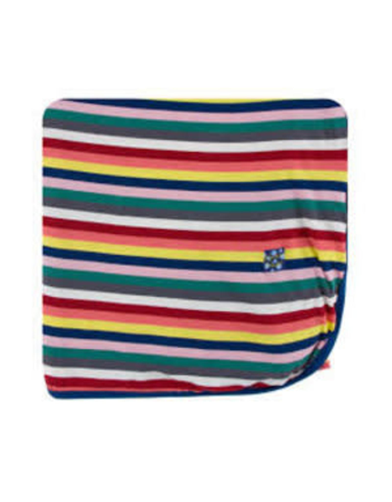 KicKee Pants Kickee Pants Print Throw Blanket, Bright London Stripe