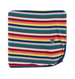 KicKee Pants Kickee Pants Print Throw Blanket, Bright London Stripe
