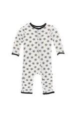 KicKee Pants Kickee Pants Print Coverall with Snaps, Natural Star Anise