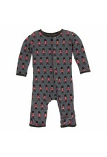 KicKee Pants KicKee Pants Print Coverall with Snaps, Queen's Guard