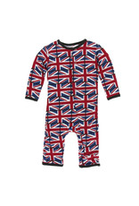 KicKee Pants KicKee Pants Print Coverall with Snaps, Union Jack
