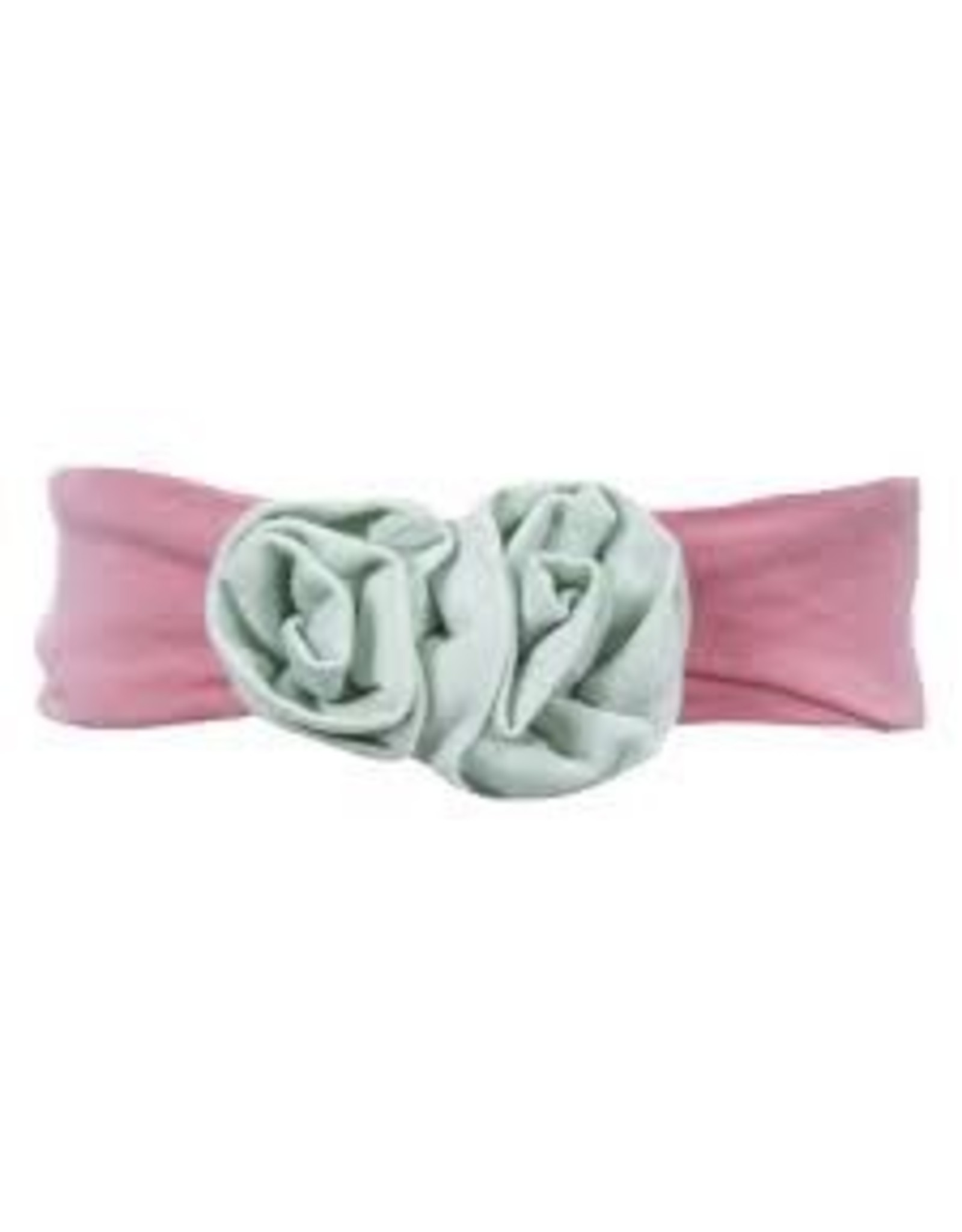 KicKee Pants Kickee Pants Solid Flower Headband, Macaroon with Desert Rose