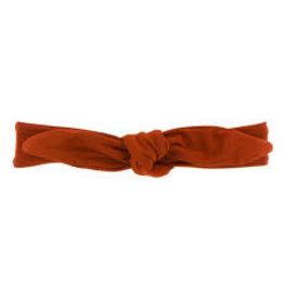 KicKee Pants Kickee Pants Solid Basic Bow Headband, Red Tea