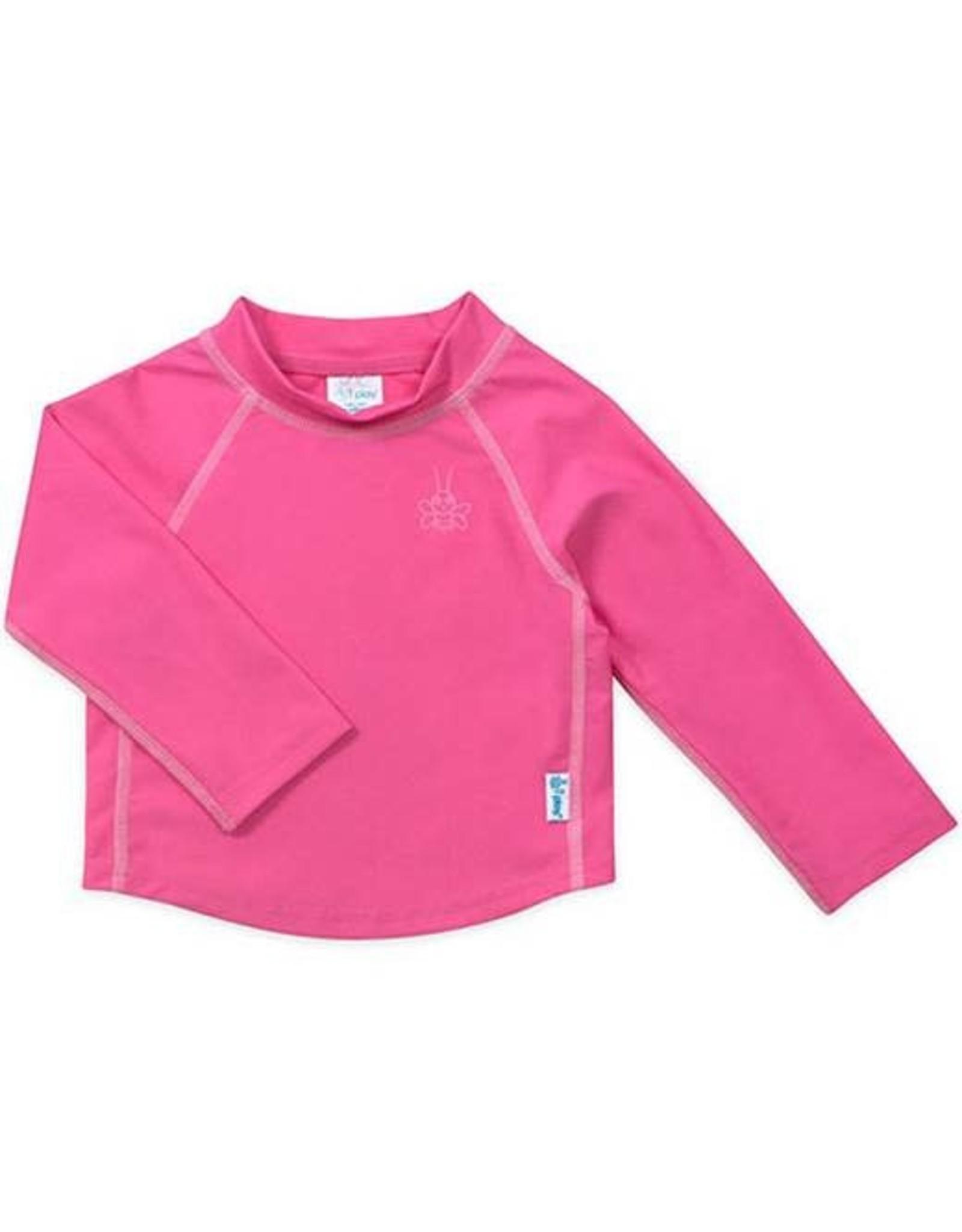 iPlay Long Sleeve Rashguard Shirt, Hot Pink