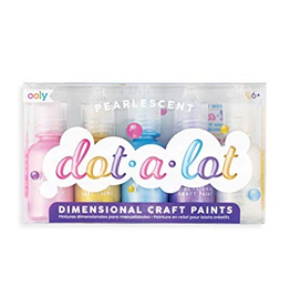 Ooly Dot-A-Lot Dimensional Craft Paints, Pearlescent, Set of 5