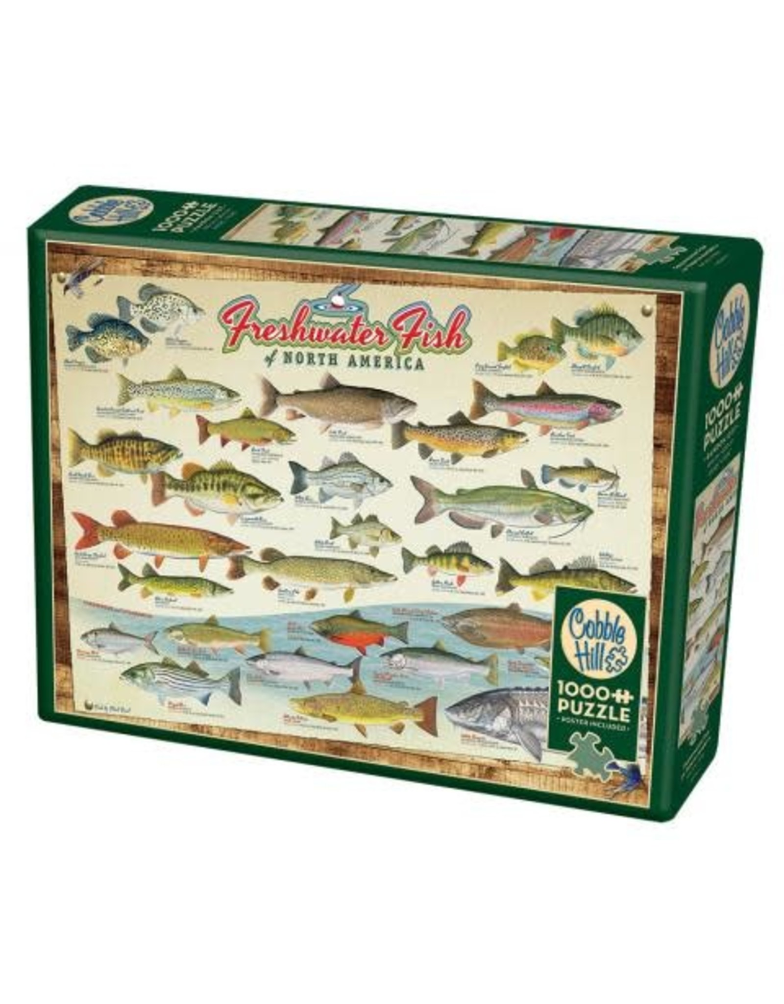 Cobble Hill 1000 pc, Freshwater Fish of North America Puzzle