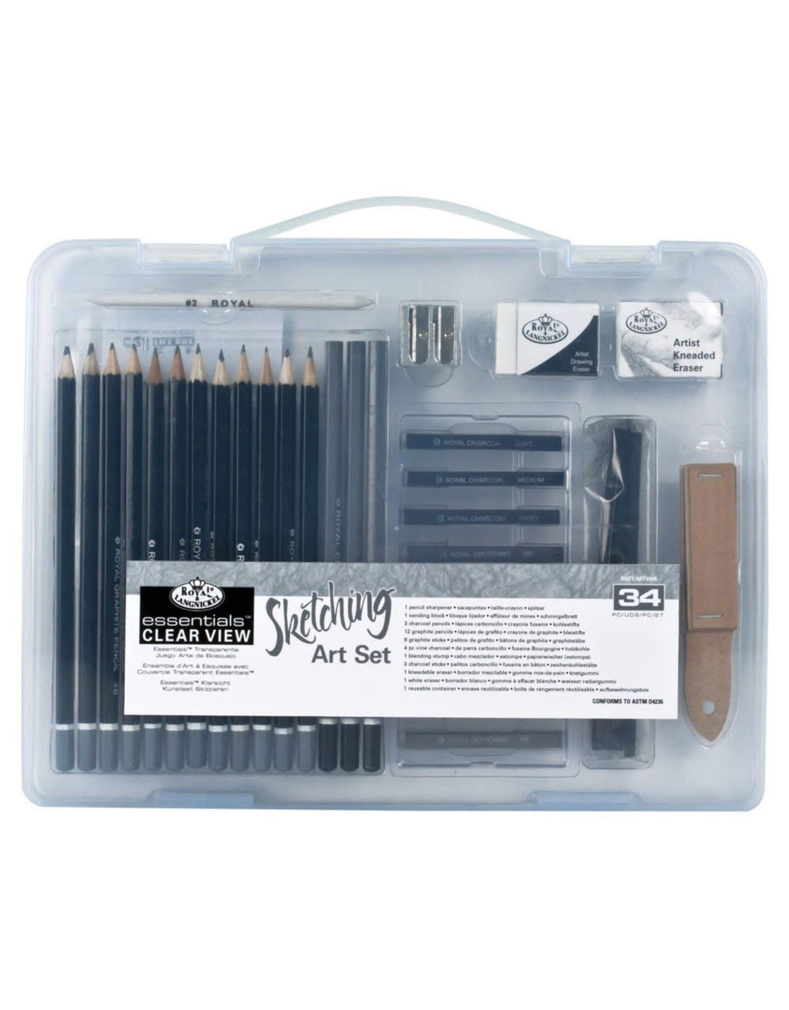 Royal and Langnickel Small Clear View, Sketching Art Set