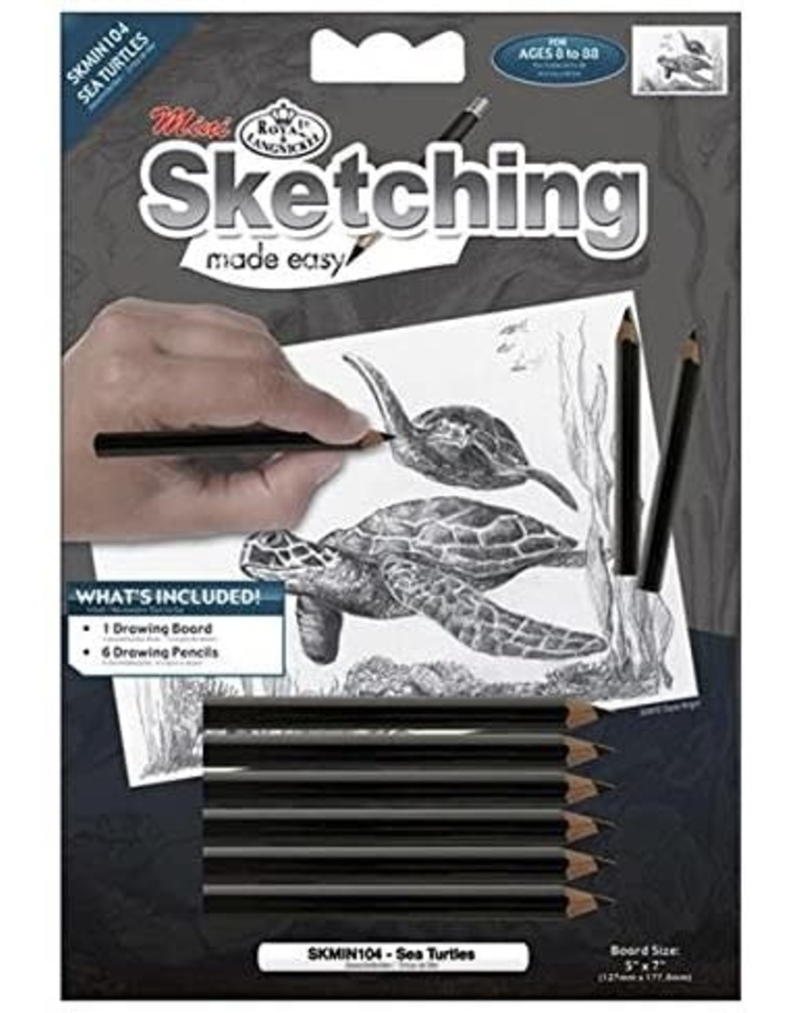 Royal and Langnickel Mini Sketching Made Easy - Sea Turtles