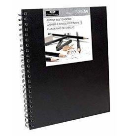 Royal and Langnickel Sketchbook Large, Black Cover