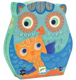 Djeco Silhouette Puzzle, Owl