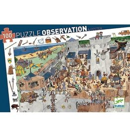 Djeco 100 pcs. Observation Puzzle, Fortified Castle