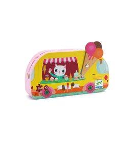 Djeco Silhouette Puzzle, The Ice Cream Truck 16 pcs
