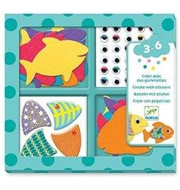 Djeco Stickers, I Love Fishes