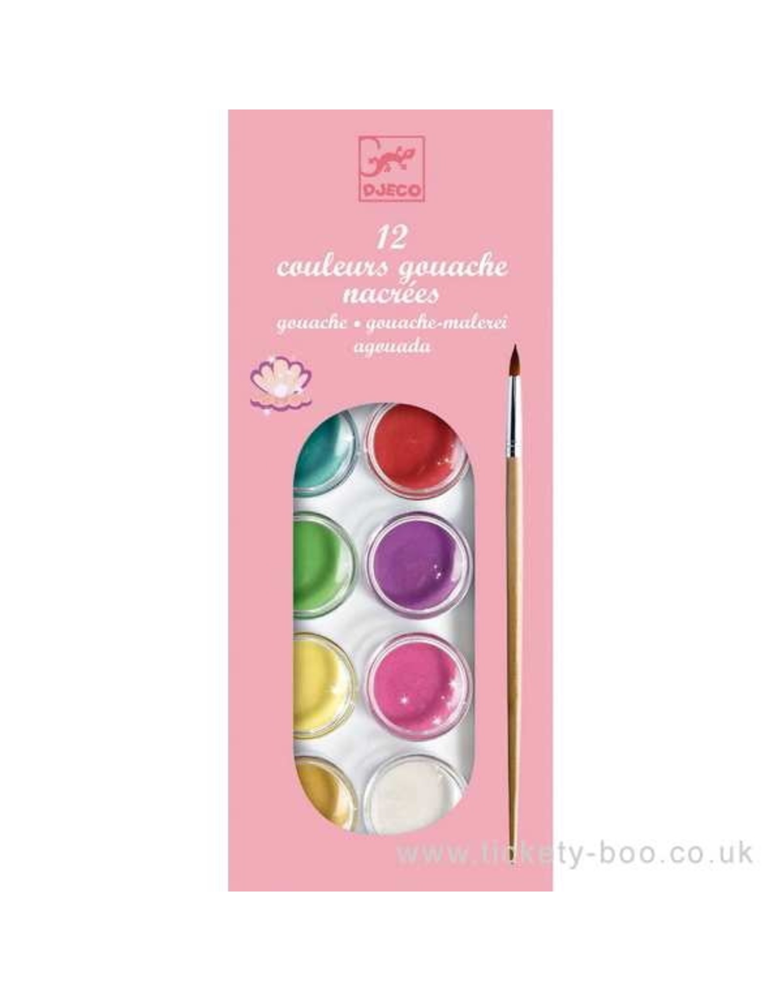 Djeco 12 Colour Cakes, Pearly