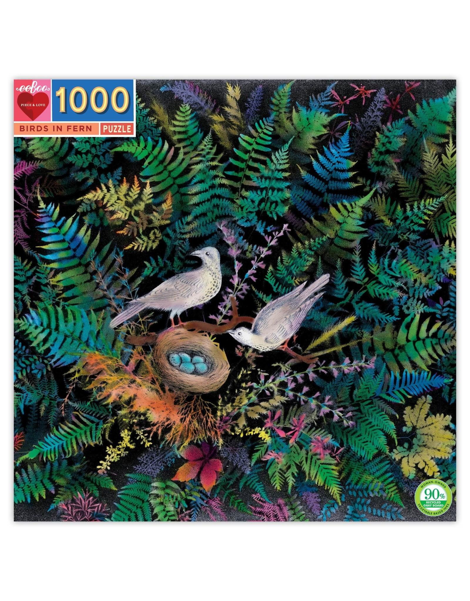 Eeboo 1000 pcs. Birds in Fern Puzzle