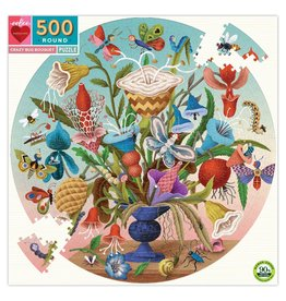Eeboo 500 pcs. Crazy Bug Bouquet Round Puzzle