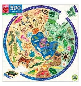 Eeboo 500 pcs. Biodiversity Round Puzzle