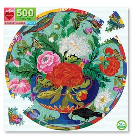 Eeboo 500 pcs. Bouquet and Birds Round Puzzle